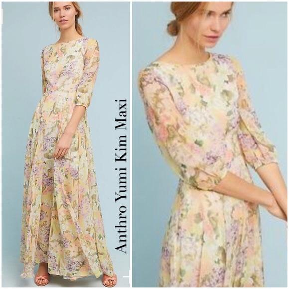 6aa87eea9a21c Anthro Floral Woodstock Maxi Dress by Yumi Kim NWT